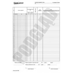 R25 - Wykaz zdawczy